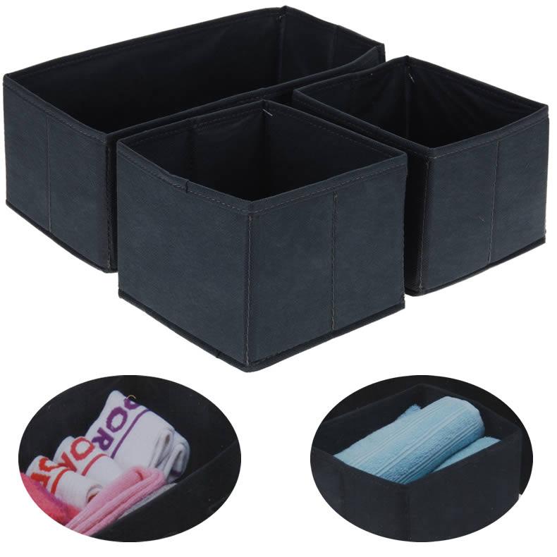 ls 3x organizer aufbewahrung box kiste schublade socken kleiderschrank spielzeug ebay. Black Bedroom Furniture Sets. Home Design Ideas