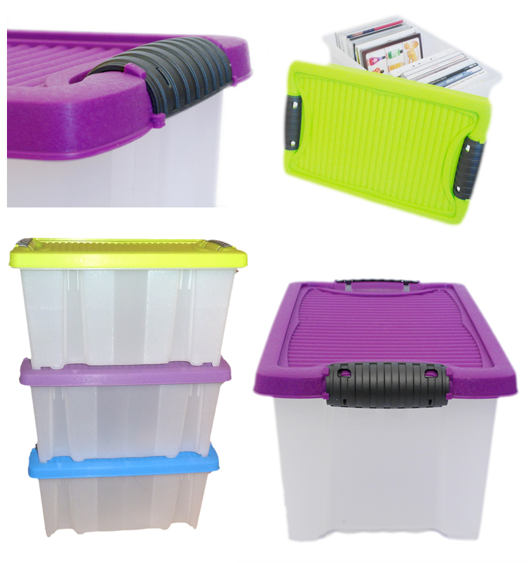 3 stapelboxen kunststoffbox aufbewahrungsbox aufbewahrung. Black Bedroom Furniture Sets. Home Design Ideas