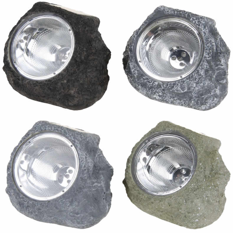 4x solar led stein solarleuchte solarlampe garten gartenlampe au enleuchte lampe ebay. Black Bedroom Furniture Sets. Home Design Ideas