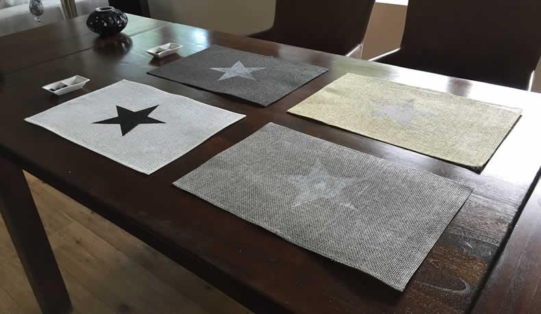 Design tischset platzmatte stern stars platzset for Tischset design