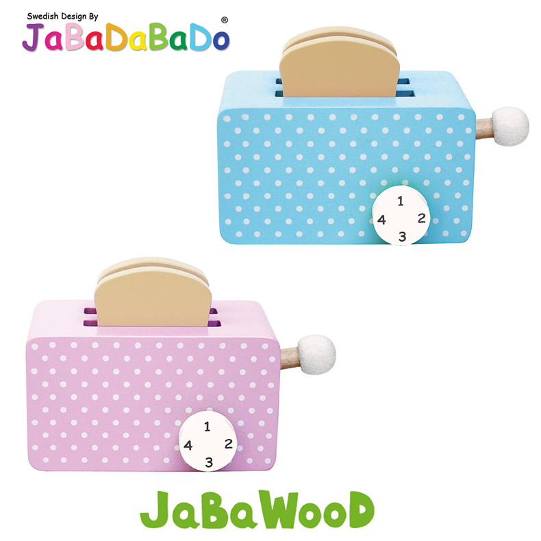 jabadabado holz toaster toastbrot k chenzubeh r kaufladen kinderk che blau rosa ebay. Black Bedroom Furniture Sets. Home Design Ideas