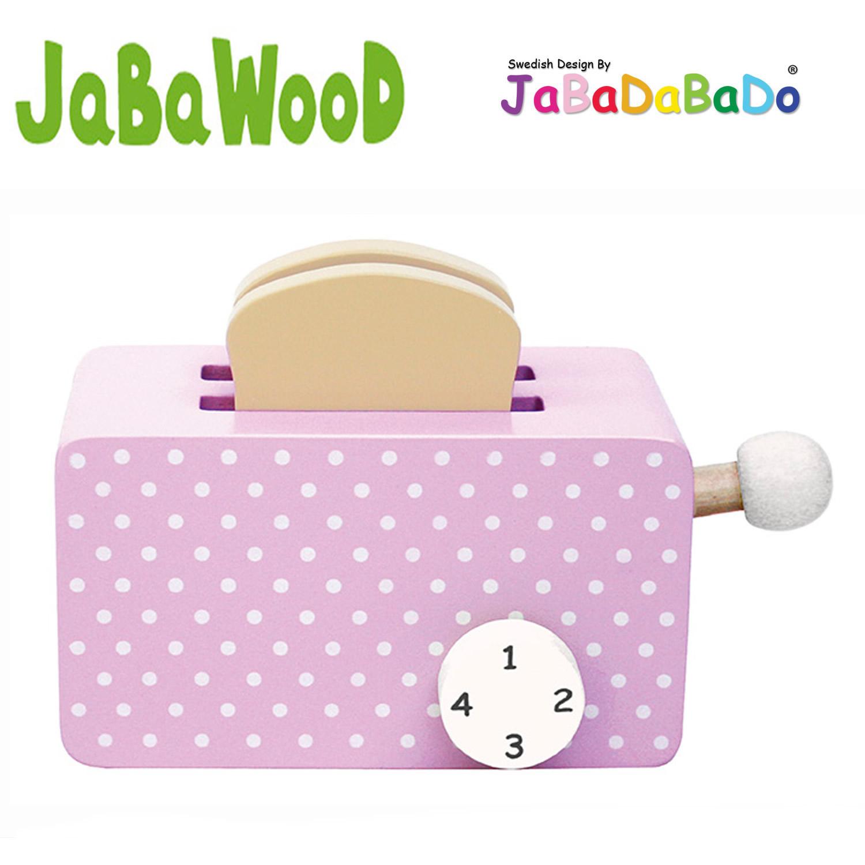 jabadabado holz toaster toastbrot k chenzubeh r kaufladen kinderk che blau rosa ebay. Black Bedroom Furniture Sets. Home Design Ideas