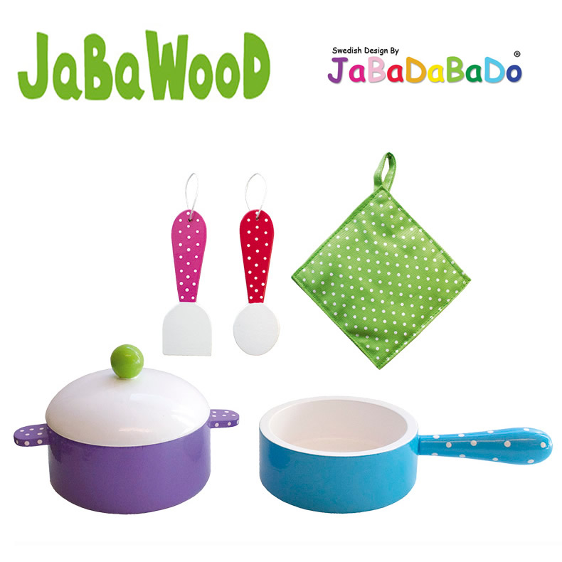 jabadabado holz kochset topf pfanne kochtopf k chenzubeh r. Black Bedroom Furniture Sets. Home Design Ideas