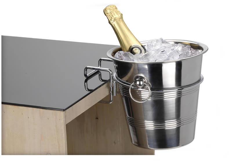 metall halterung f sektk hler sektk bel champagnerk hler tisch halterung platte ebay. Black Bedroom Furniture Sets. Home Design Ideas
