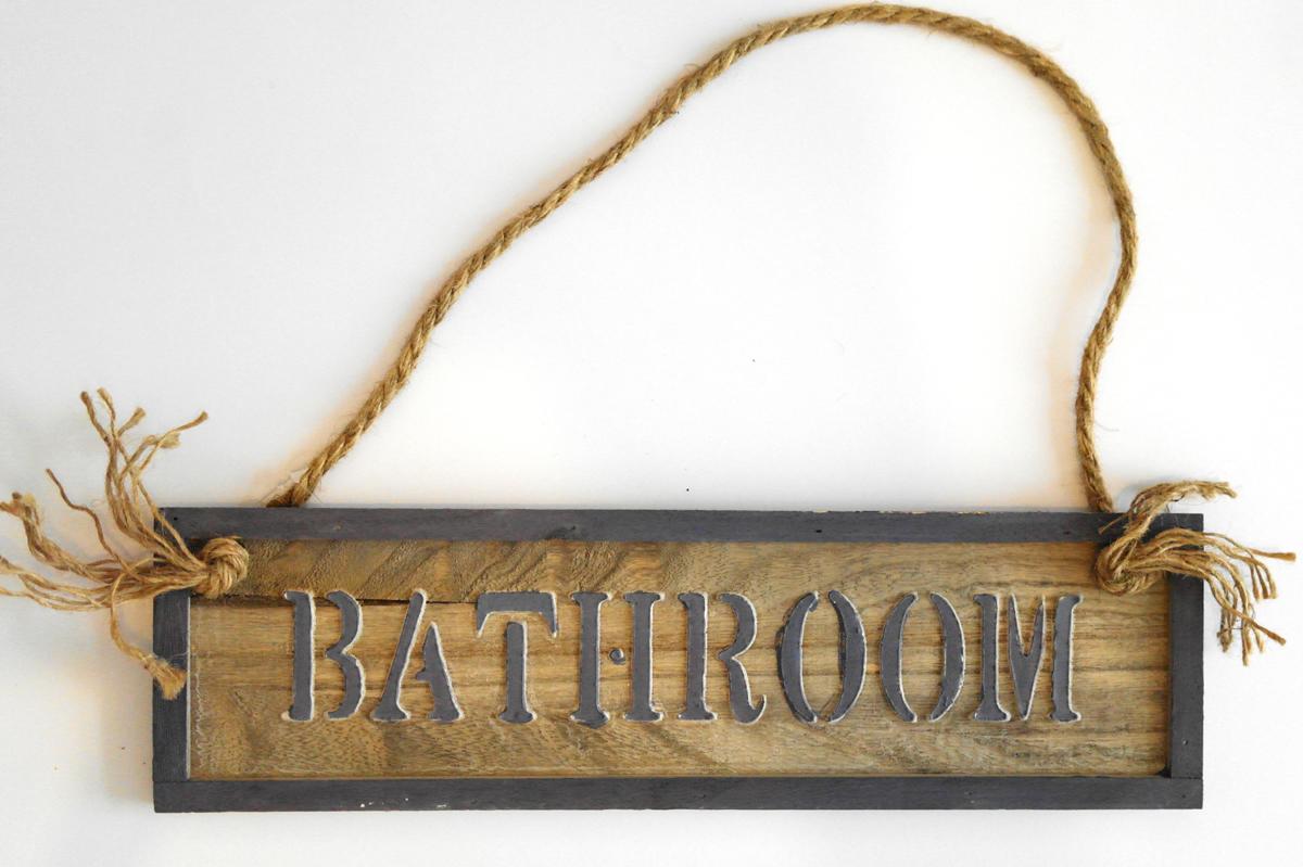 ... XXL Holzschild Tuerschild Badezimmer Bathroom Vintage Cottage Shabby