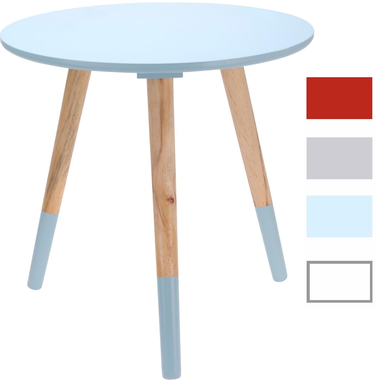 design holz tisch beistelltisch nachttisch couchtisch sofatisch wohnzimmer rund ebay. Black Bedroom Furniture Sets. Home Design Ideas