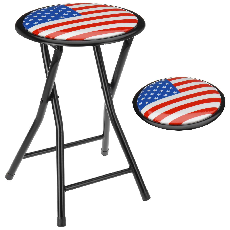 falthocker hocker klappbar sitzhocker klappstuhl stuhl faltstuhl metall motiv ebay. Black Bedroom Furniture Sets. Home Design Ideas