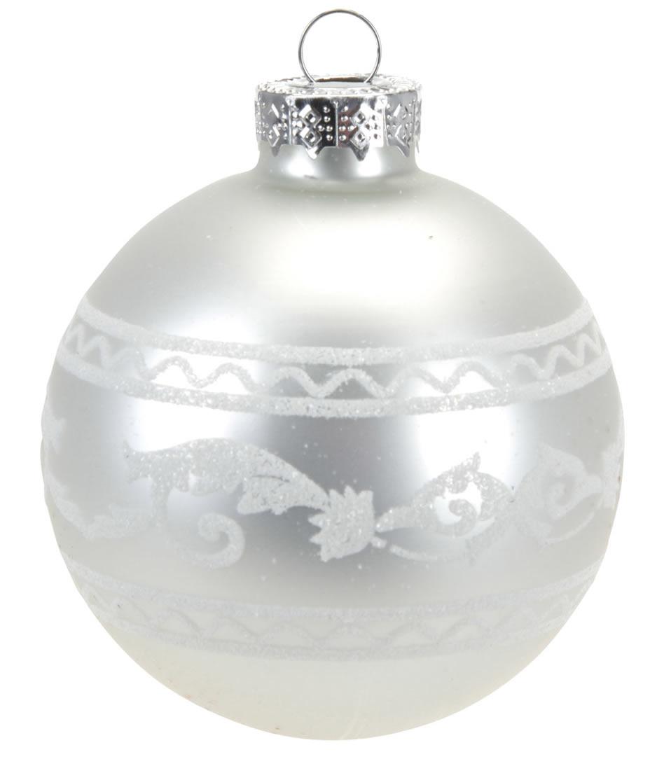weihnachtskugel silber