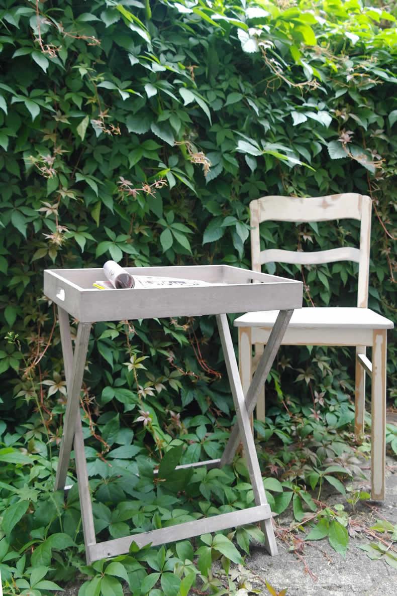 Design holz beistelltisch tablett servier tisch stand tray for Beistelltisch tablett holz