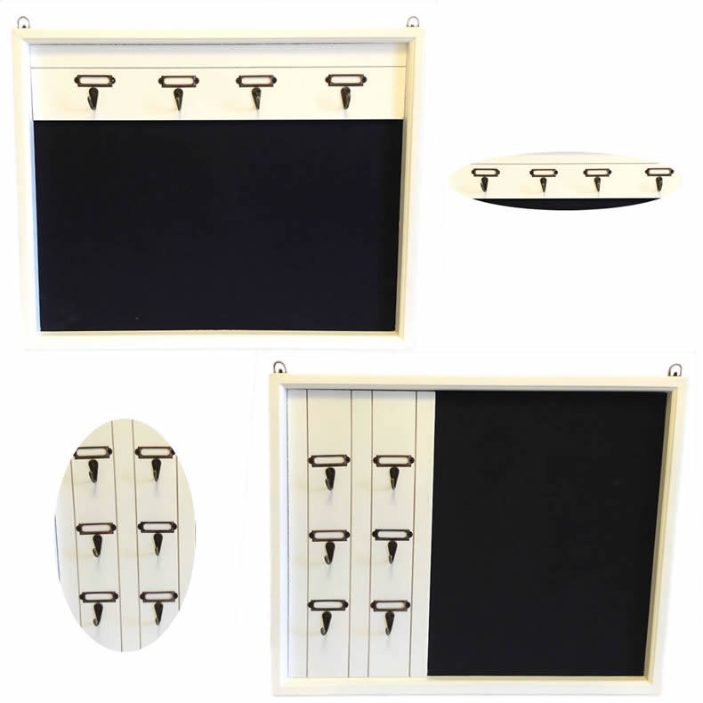 holz memotafel schl sselbrett schl sselleiste schl sselboard tafel shabby chic ebay. Black Bedroom Furniture Sets. Home Design Ideas