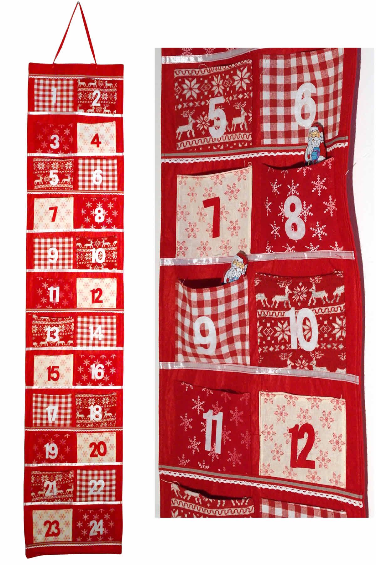 adventskalender selbstbef llen advent kalender girlande stern 24 s ckchen filz ebay. Black Bedroom Furniture Sets. Home Design Ideas