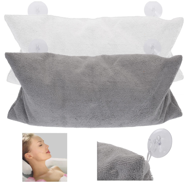 Komfort Nackenrolle Nackenkissen Grau Weiß 37x17cm Badewanne Kissen