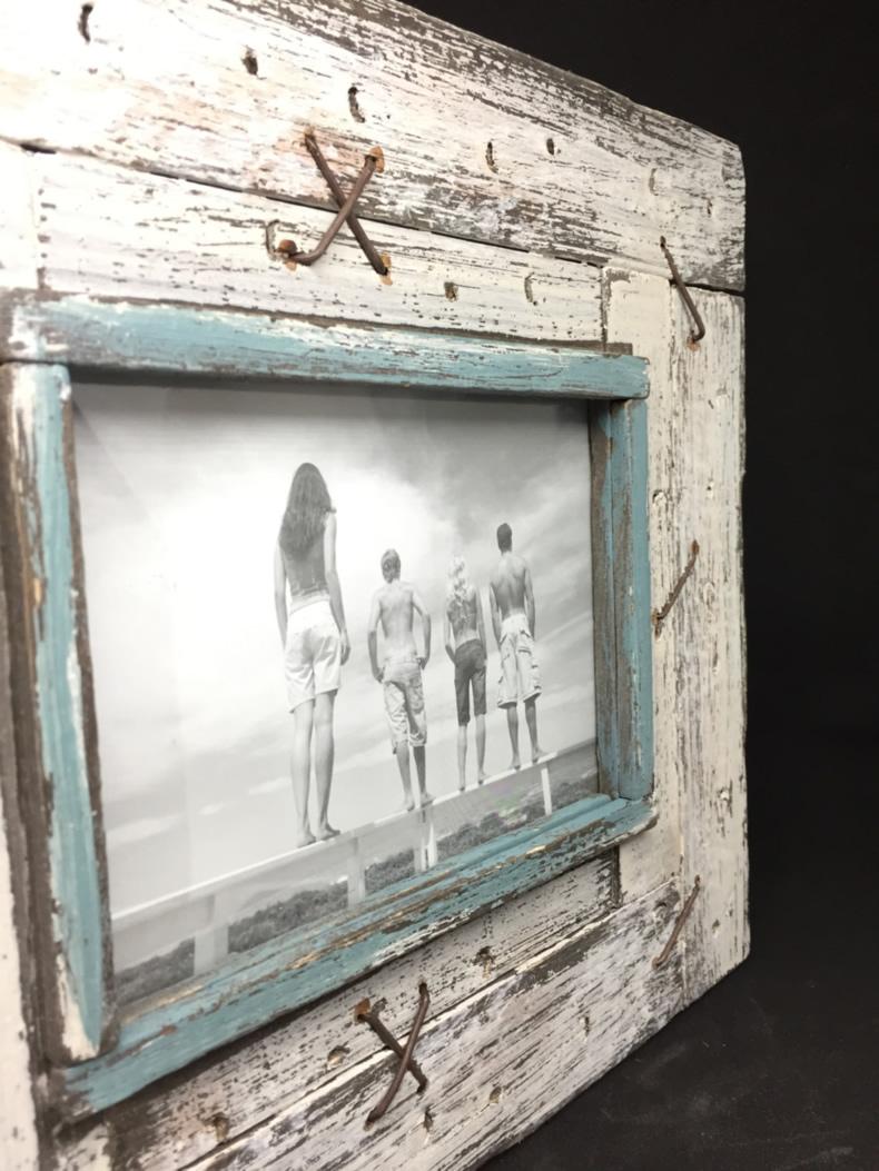 XL Stand-Bilderrahmen Fotorahmen Maritim Vintage Shabby Weiss ...