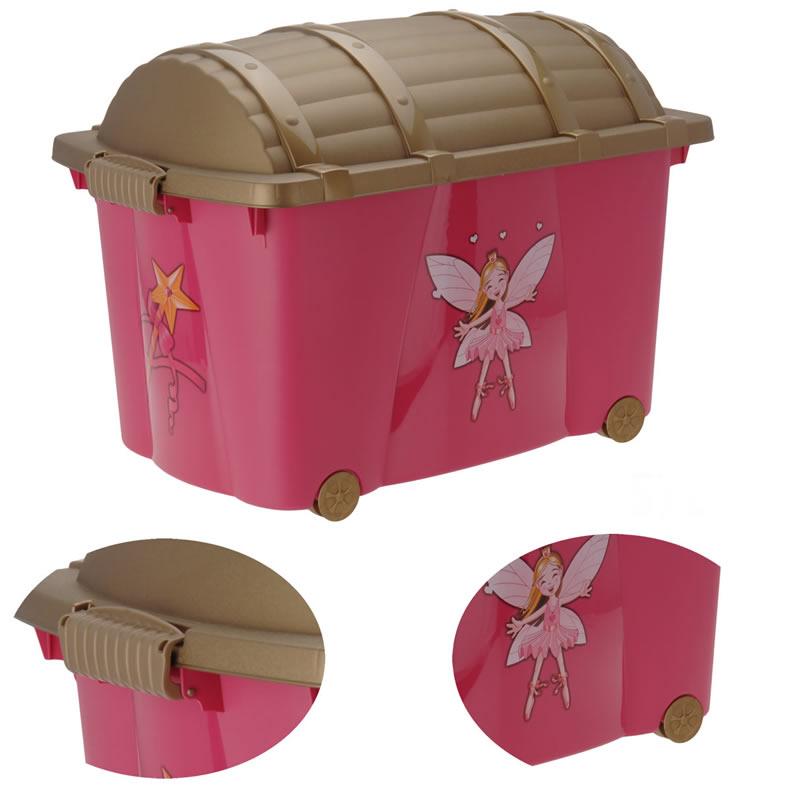 Xl rollbox spielbox prinzessin kinder aufbewahrung