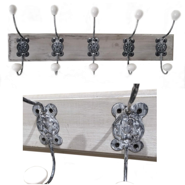 design holz garderobenhaken wandhaken haken kleiderhaken leiste garderobe shabby ebay. Black Bedroom Furniture Sets. Home Design Ideas