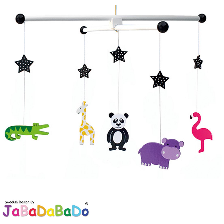 jabadabado 3d babyzimmer mobile holz flugzeug hei luftballon schmetterling blume ebay. Black Bedroom Furniture Sets. Home Design Ideas