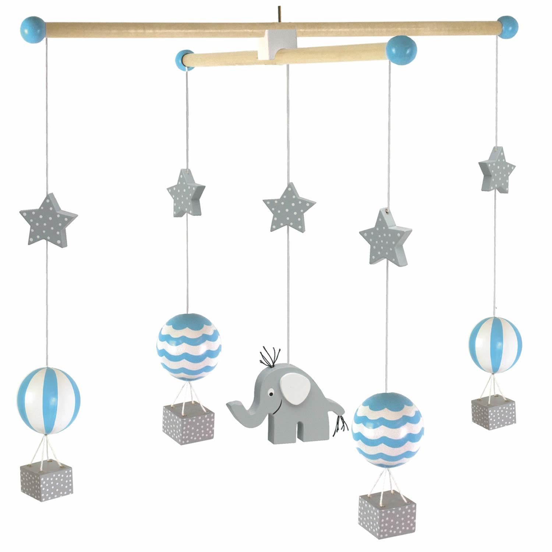 Babyzimmer möbel holz  JaBaDaBaDo 3D Babyzimmer Mobile Holz Flugzeug Heißluftballon ...