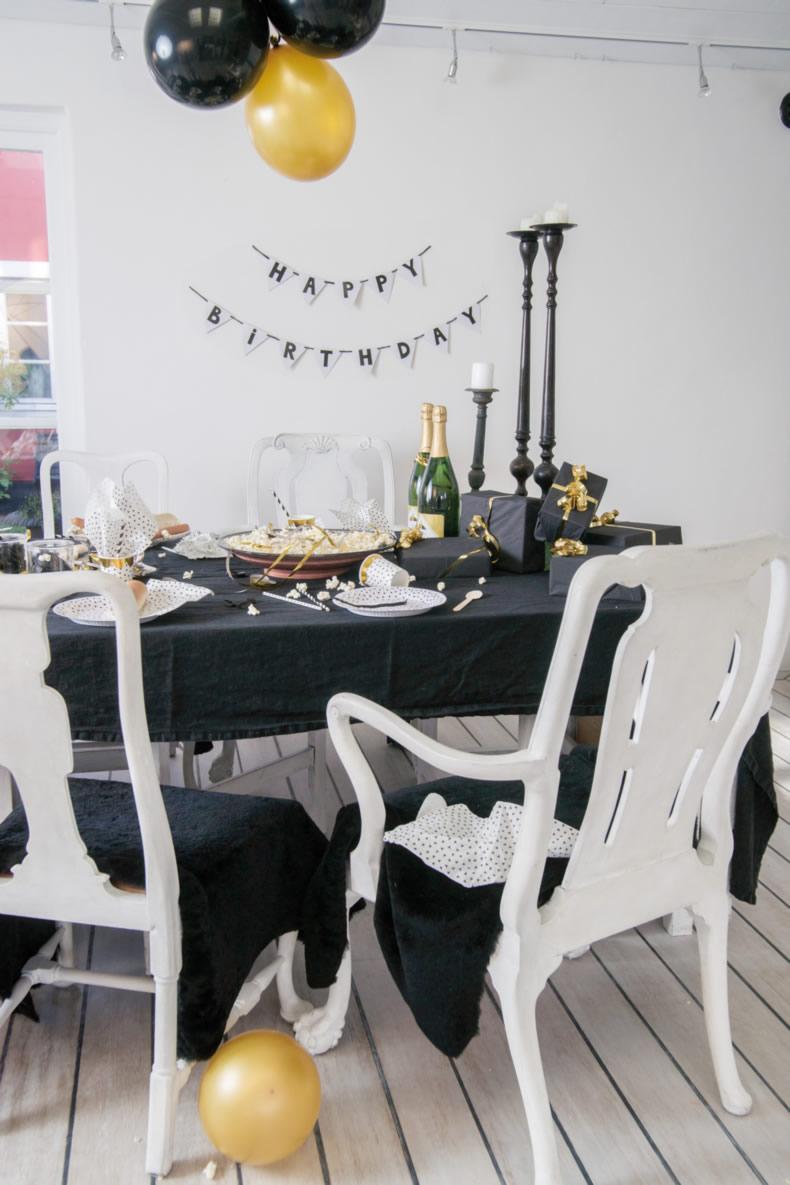 kinder geburtstag party jungs m dchen schwarz wei deko. Black Bedroom Furniture Sets. Home Design Ideas