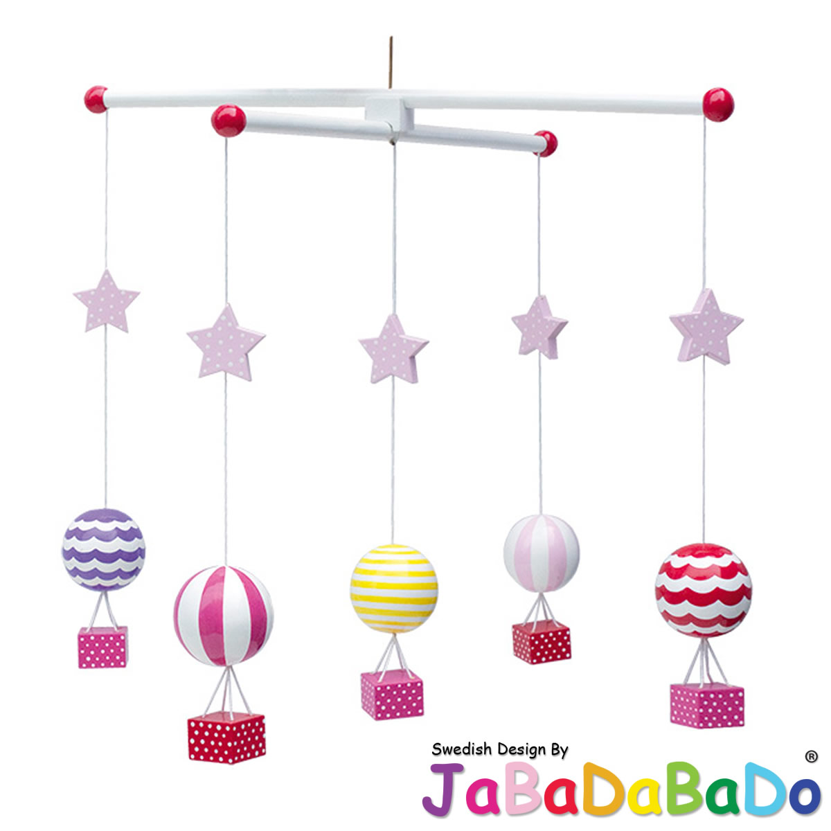 jabadabado 3d babyzimmer mobile holz flugzeug hei luftballon schmetterling blume ebay. Black Bedroom Furniture Sets. Home Design Ideas