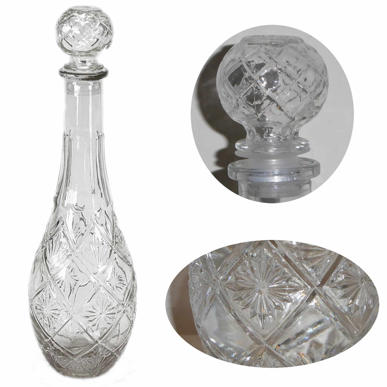 glaskaraffe whisky cognac wein wasser lik r karaffe flasche kristall verschluss ebay. Black Bedroom Furniture Sets. Home Design Ideas