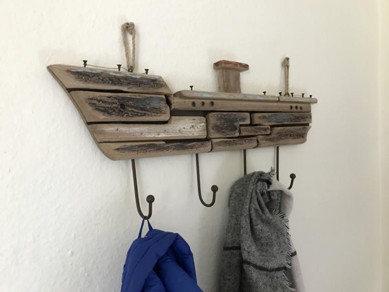 Garderobe Maritim xxl wandgarderobe garderobenleiste hakenleiste garderobe schiff