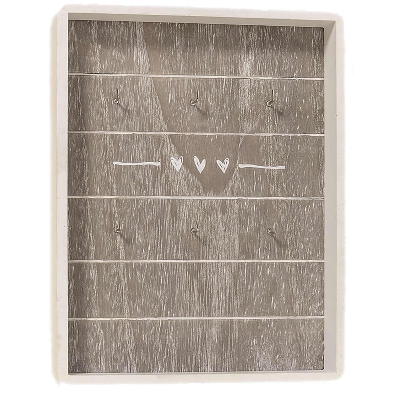 design holz schl sselbrett schl sselleiste schl sselboard herz shabby vintage ebay. Black Bedroom Furniture Sets. Home Design Ideas