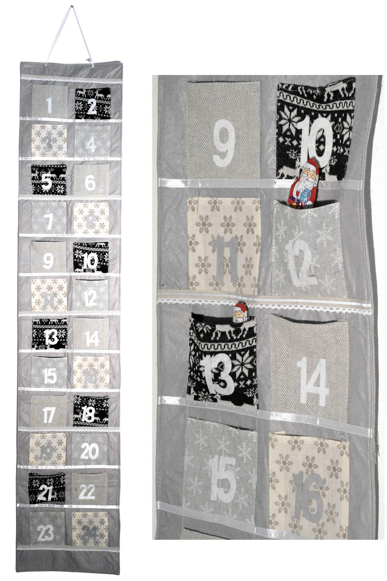 adventskalender selbstbef llen advent kalender girlande baum 24 s ckchen filz ebay. Black Bedroom Furniture Sets. Home Design Ideas