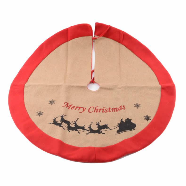 baumdecke 90cm rot beige weihnachtsbaum tannenbaum. Black Bedroom Furniture Sets. Home Design Ideas