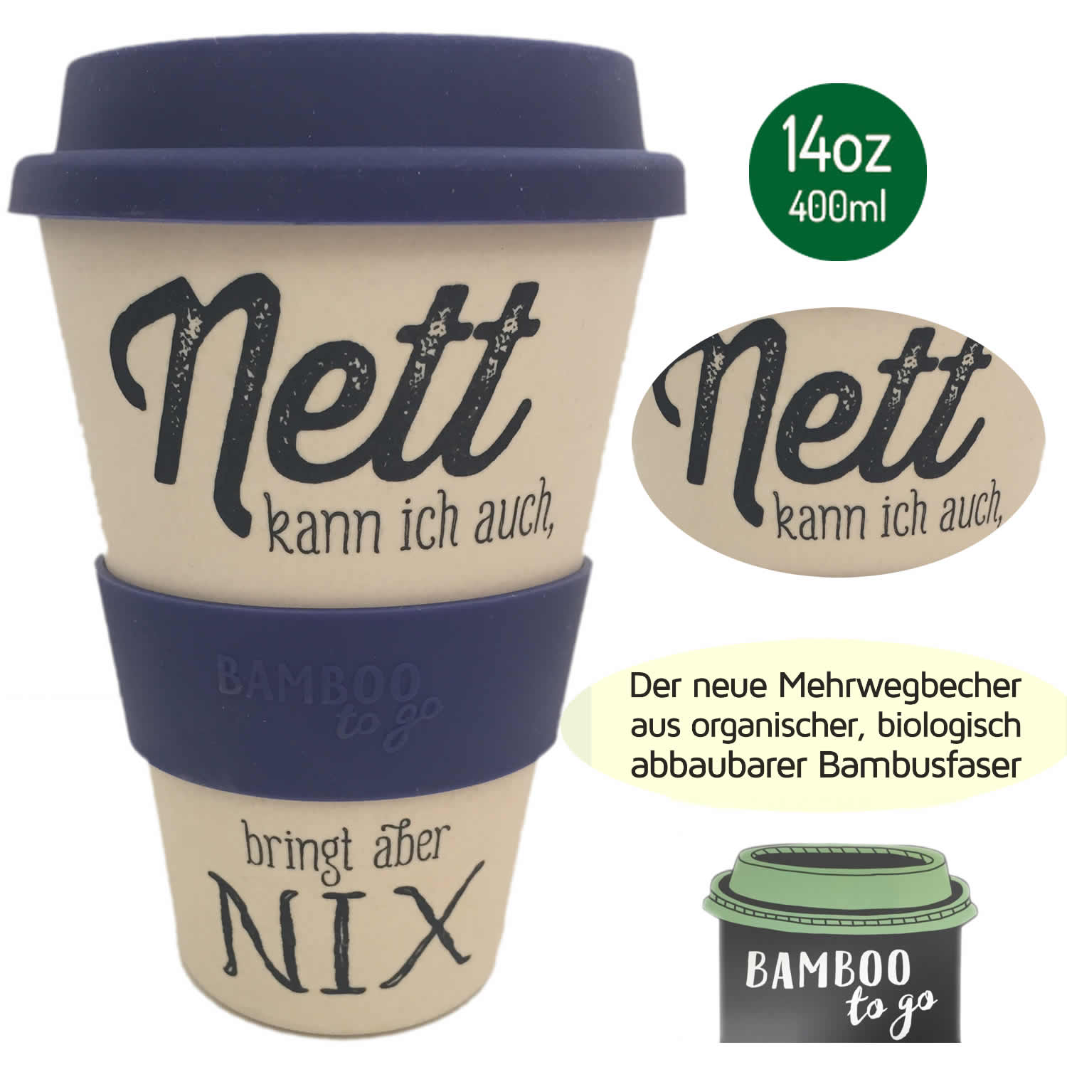 ko coffee to go kaffe tee becher ecoffee cup bambus. Black Bedroom Furniture Sets. Home Design Ideas